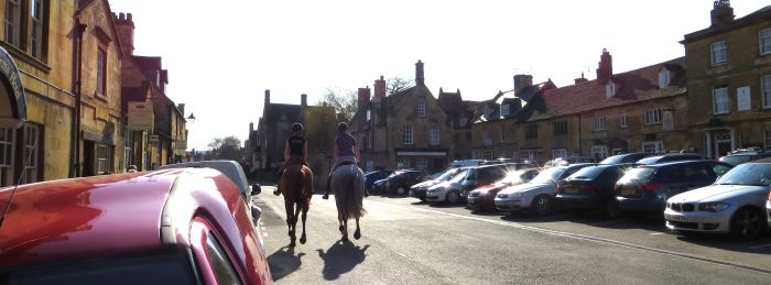 Chipping horses